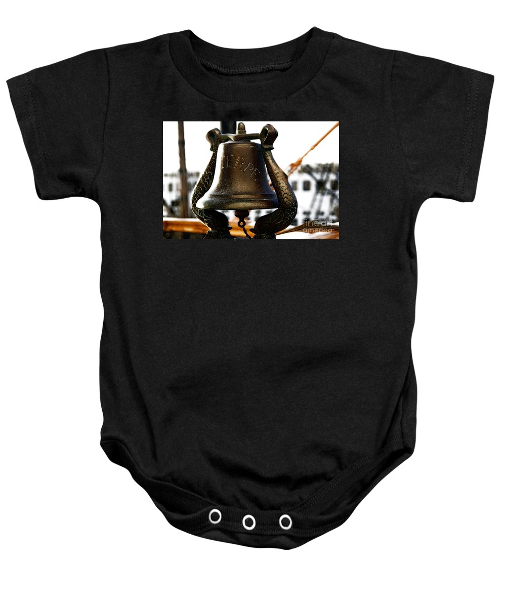 Euterpe Baby Onesie featuring the photograph Euterpe Bell by Linda Shafer