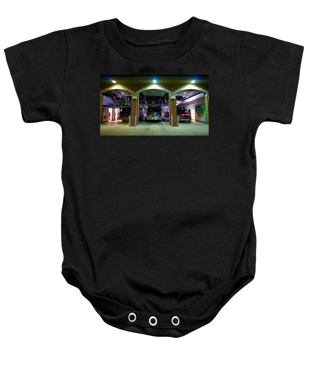 Fire Dept Baby Onesie featuring the photograph Evening Arrives by Tim G Ross