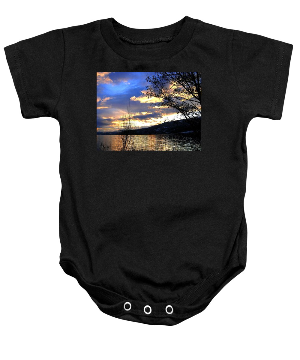 Sunset Baby Onesie featuring the photograph Evening Exhibition by Will Borden