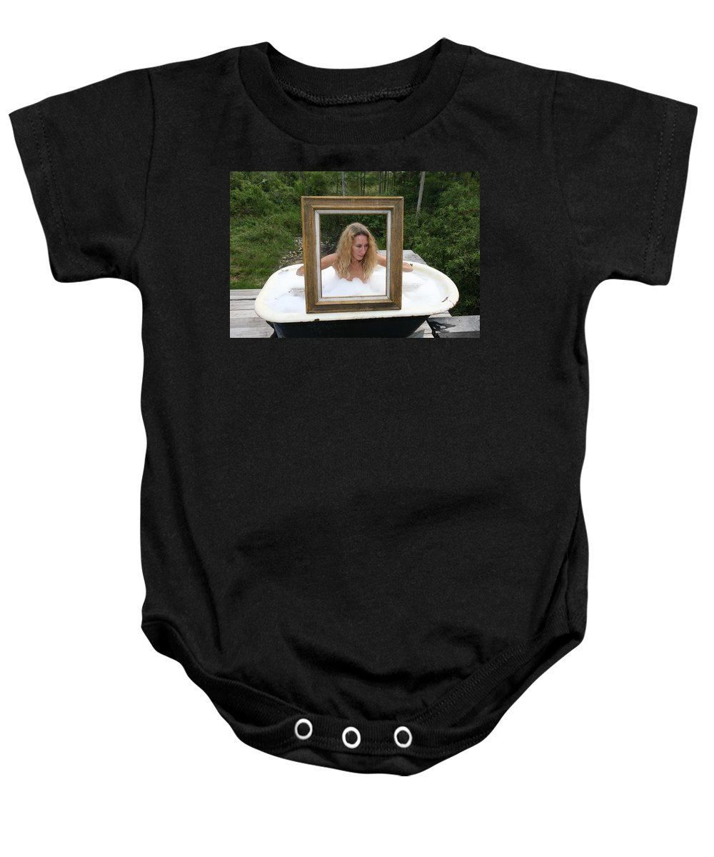 Everglades City Photographer Lucky Cole Glamorous Exotic Sexy Female Baby Onesie featuring the photograph Everglades City Beauty 385 by Lucky Cole