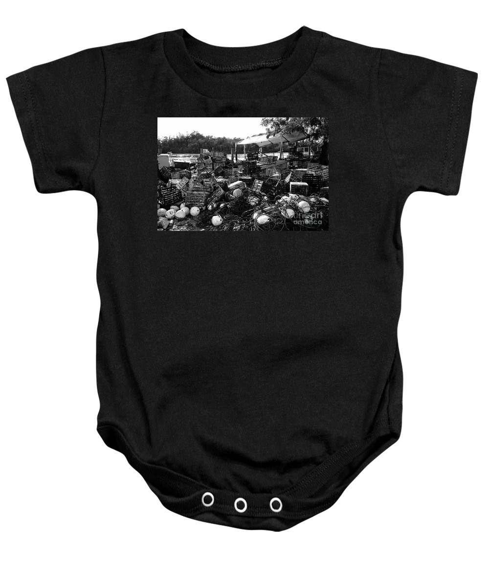 Stone Crabbing Baby Onesie featuring the photograph Everglades City Life by David Lee Thompson