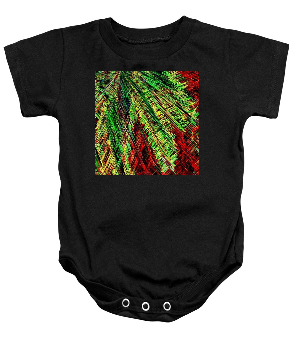 Abstract Baby Onesie featuring the digital art Evergreen by Will Borden
