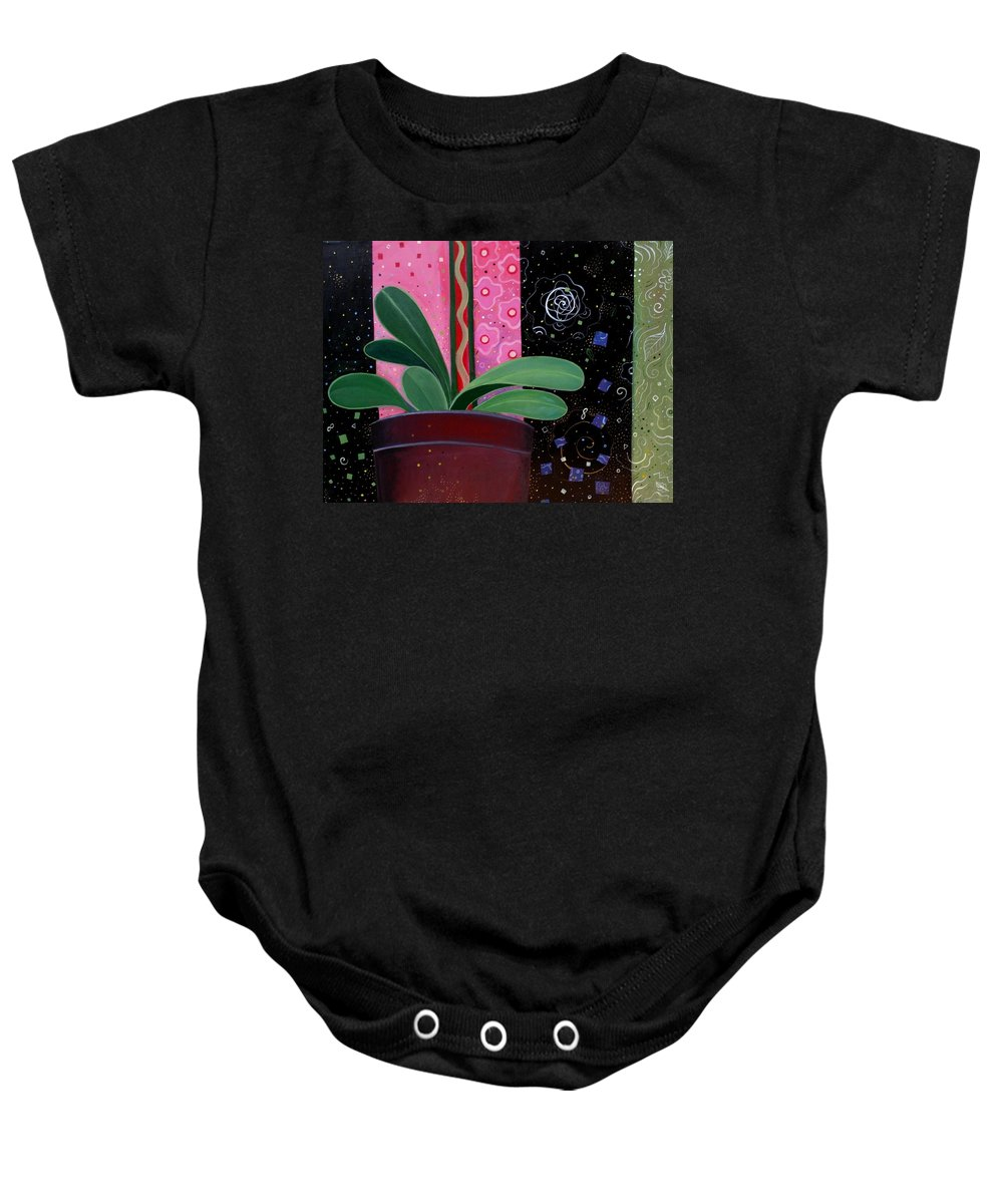 Sacred Baby Onesie featuring the painting Everyday Sacred by Helena Tiainen