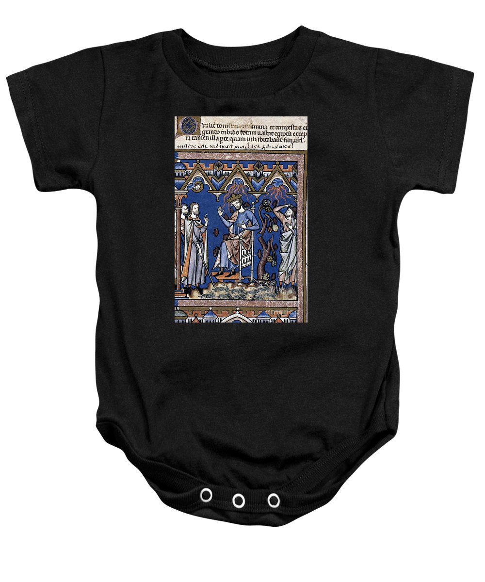 1250 Baby Onesie featuring the photograph Exodus: Plague Of Hail by Granger