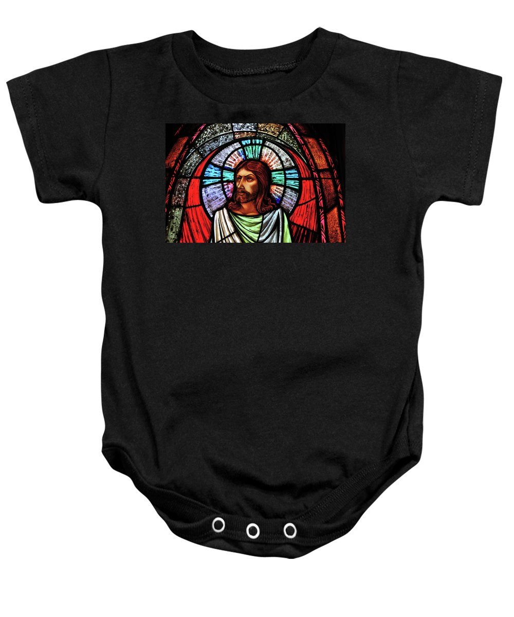 Jesus Baby Onesie featuring the photograph Eyes To Heaven by David Arment