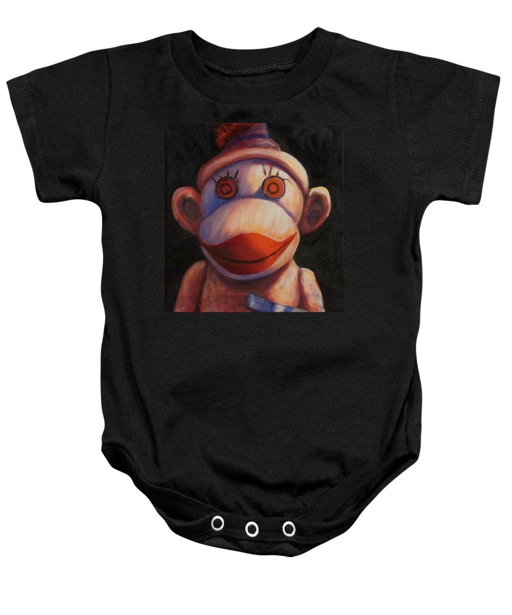 Children Baby Onesie featuring the painting Face by Shannon Grissom