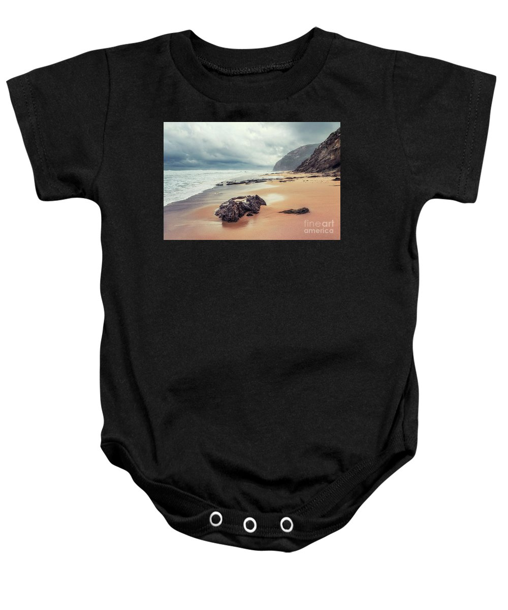 Kremsdorf Baby Onesie featuring the photograph Fade Into The Ocean by Evelina Kremsdorf
