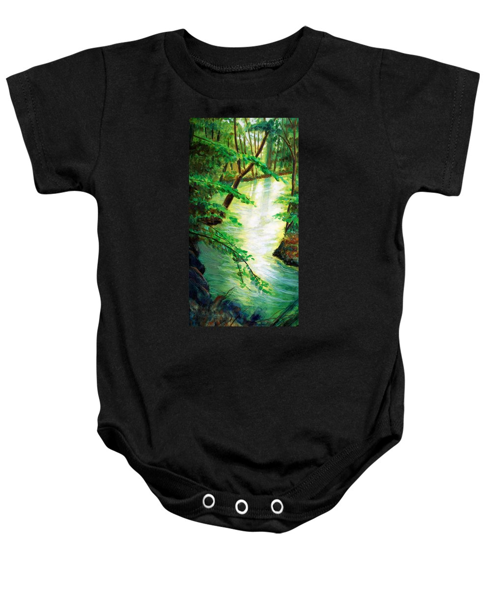 Forest Baby Onesie featuring the painting Fairfax Summer by Ken Meyer