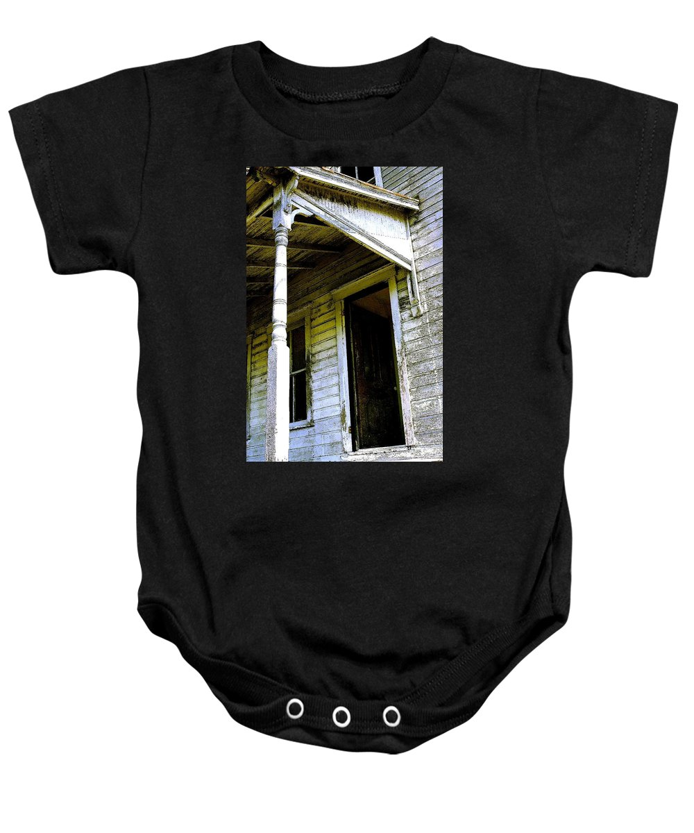 Porch Baby Onesie featuring the photograph Fairview Ohio - Number 1 by Nelson Strong