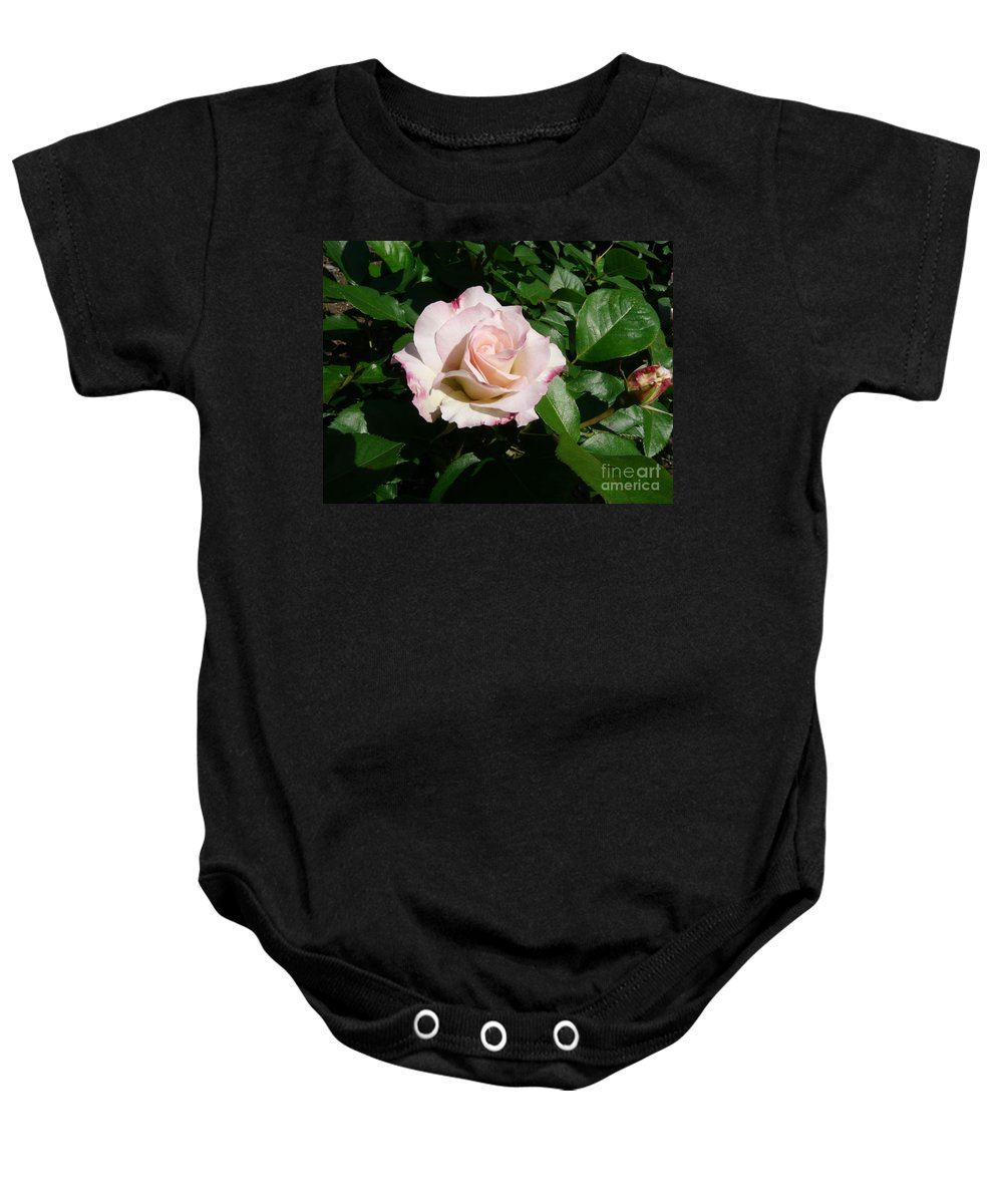 Rose Baby Onesie featuring the photograph Fait Accompli by Kendall Eutemey