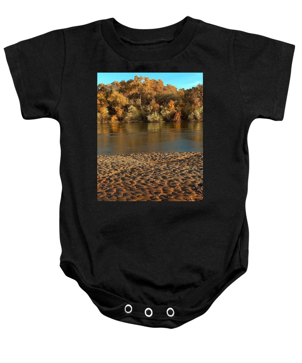 Fall Colors Baby Onesie featuring the photograph Fall Colors On The Rio Grande 1 by Tim McCarthy