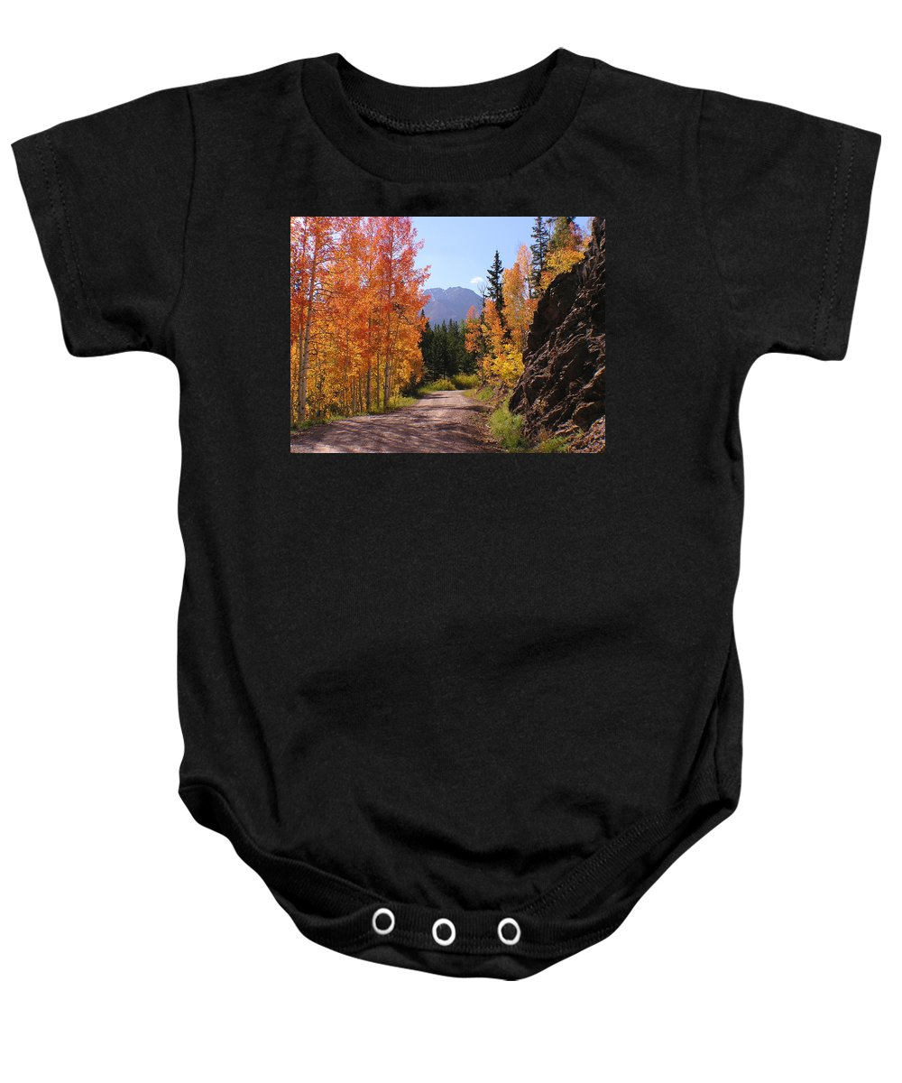 Trees Baby Onesie featuring the photograph Fall In Colorado by Carol Milisen