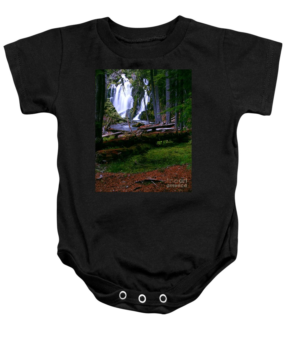 Waterfall Baby Onesie featuring the photograph Fall Through by Peter Piatt