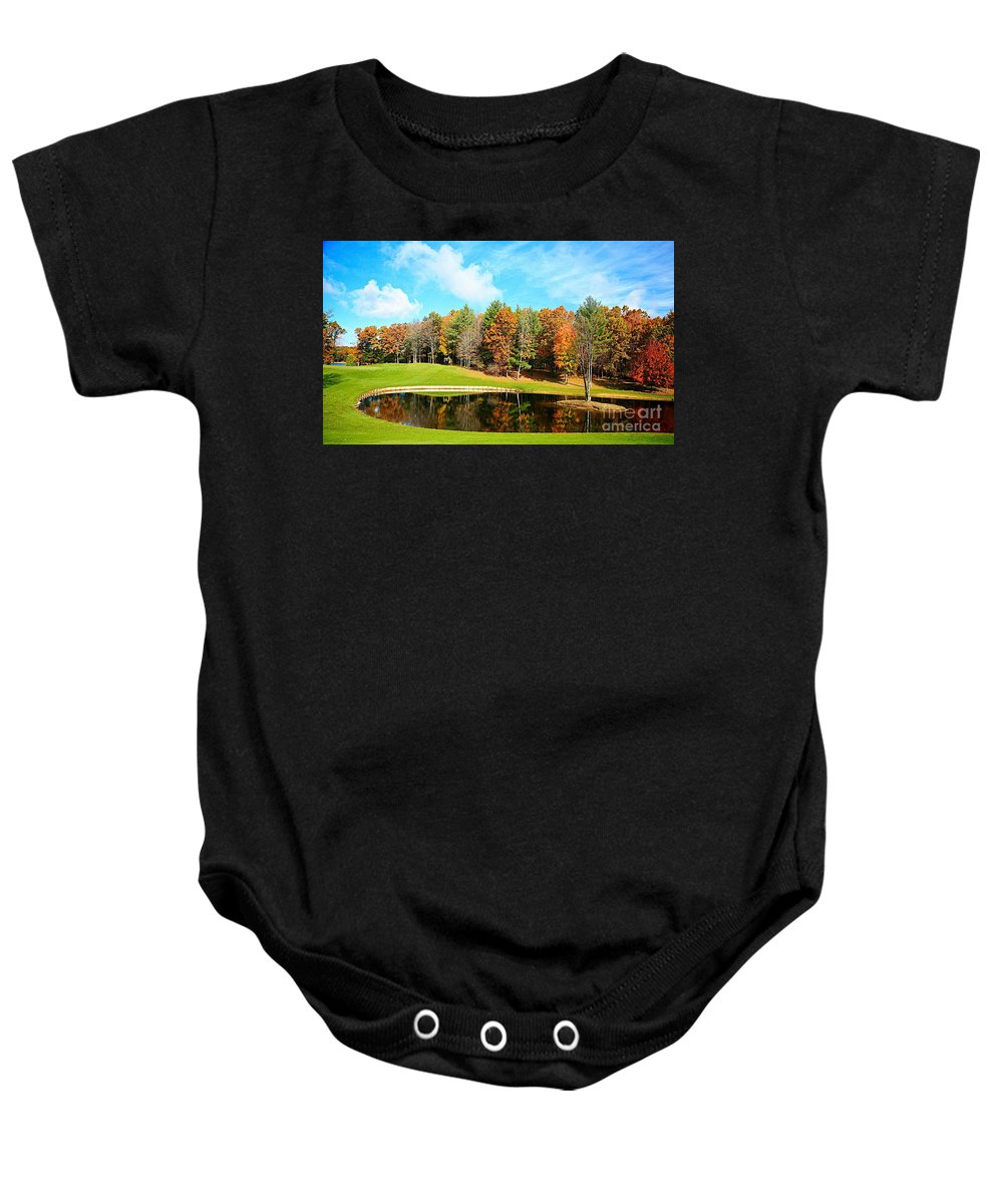 Fall Baby Onesie featuring the photograph Fall Time by Robert Pearson