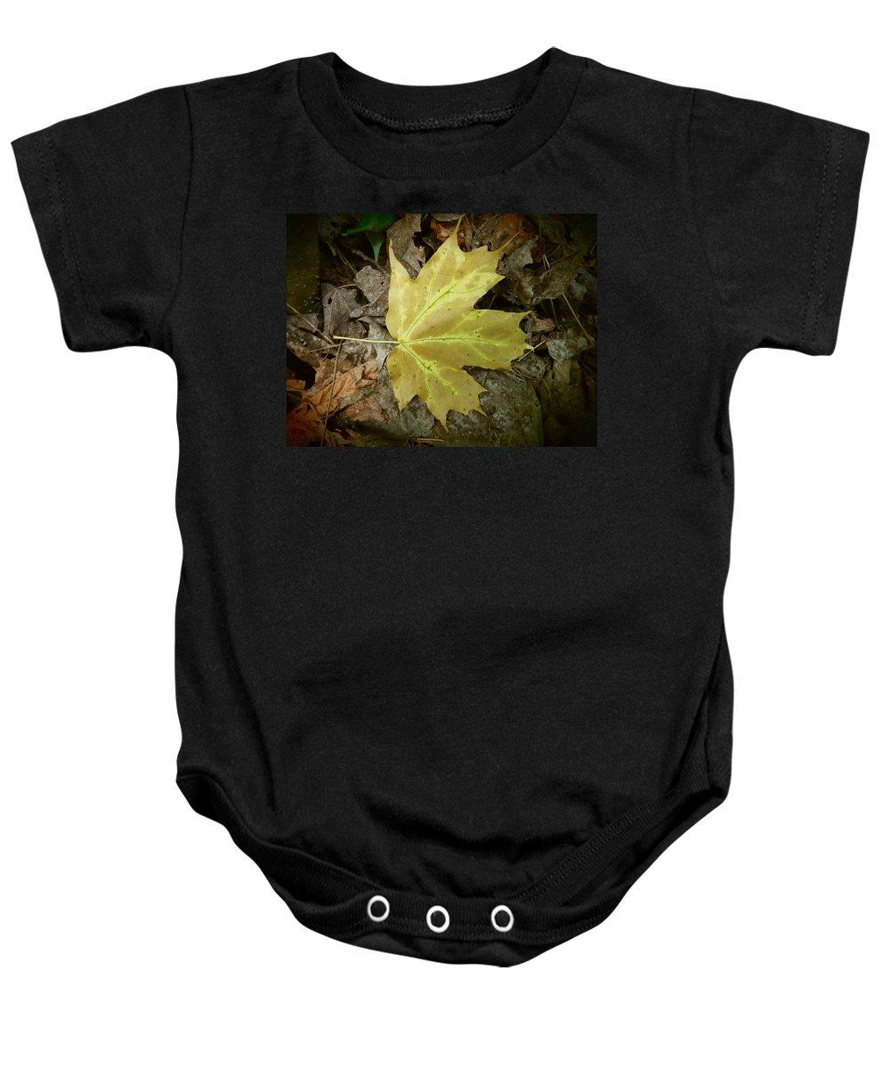 Forest Baby Onesie featuring the photograph Fallen One by Zen WildKitty