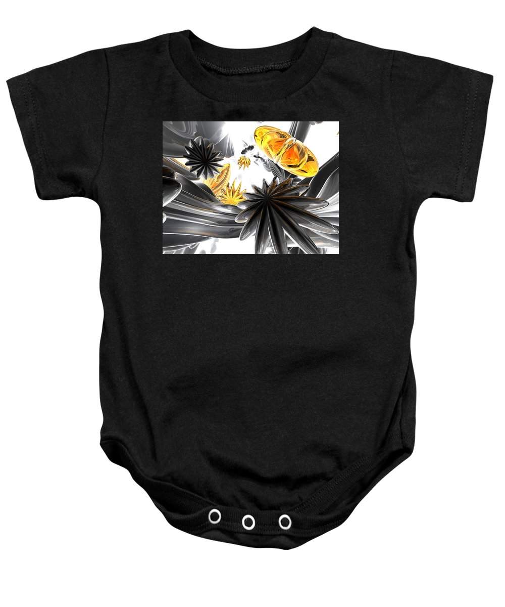3d Baby Onesie featuring the digital art Falling Stars Abstract by Alexander Butler