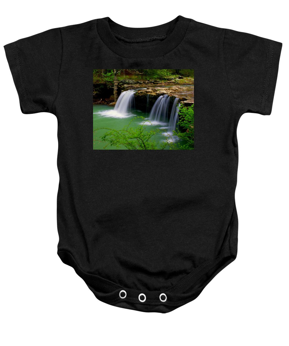 Waterfalls Baby Onesie featuring the photograph Falling Water Falls by Marty Koch