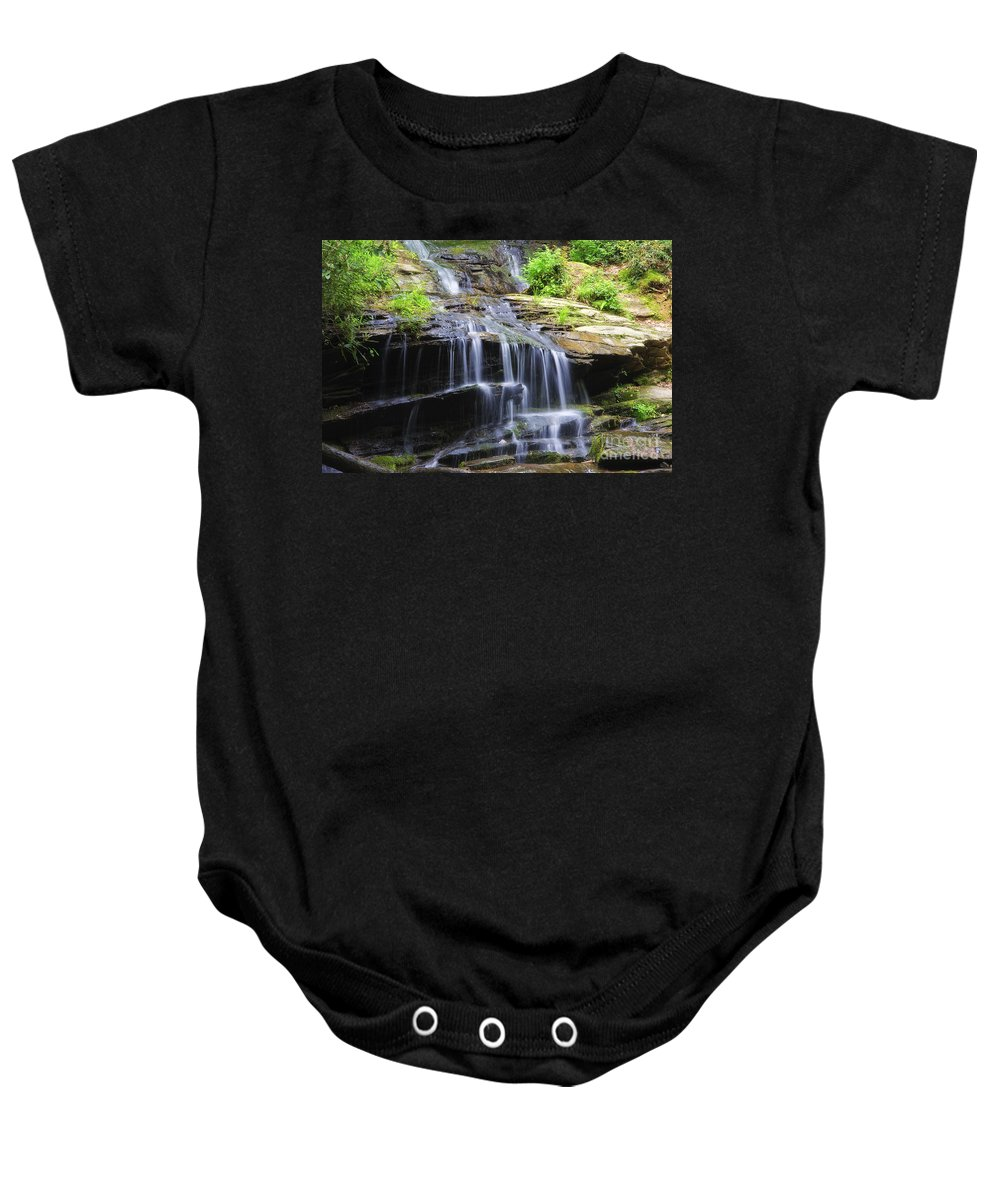 Tom Baby Onesie featuring the photograph Falling Water by Jill Lang
