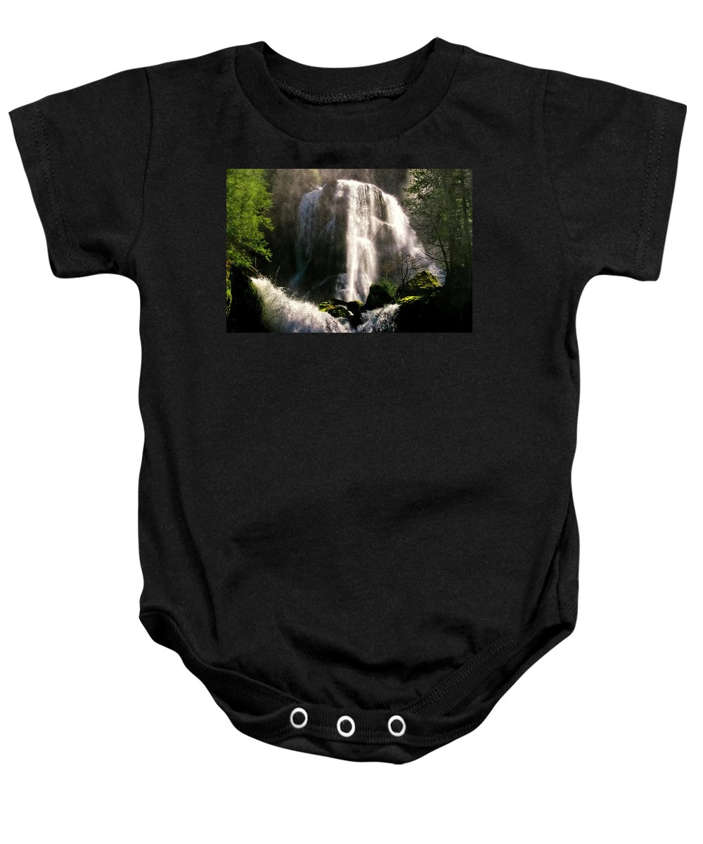 Falls Creek Baby Onesie featuring the photograph Falls Creek Falls by Albert Seger