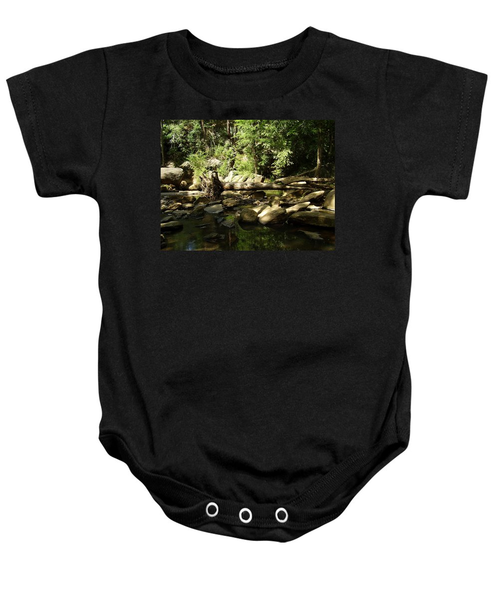Falls Park Baby Onesie featuring the photograph Falls Park by Flavia Westerwelle