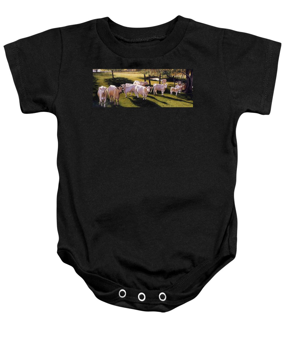 Landscape Baby Onesie featuring the painting Family Portrait by Denny Bond