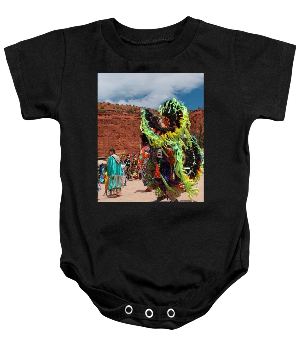 Fancy Dancer Baby Onesie featuring the photograph Fancy Dancer by Tim McCarthy