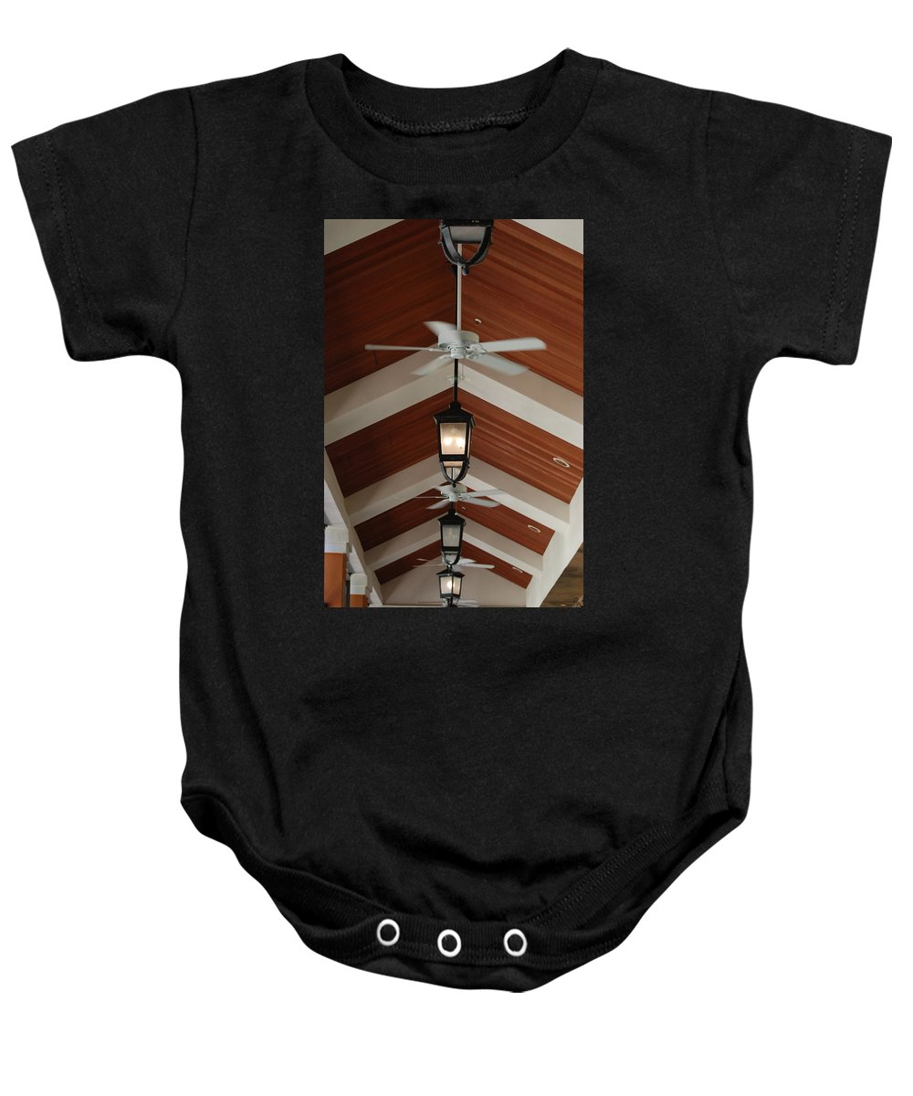 Fans Baby Onesie featuring the photograph Fans And Lights by Rob Hans