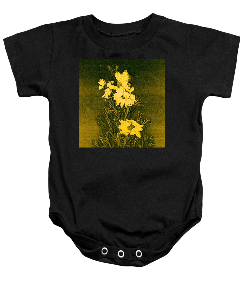 Flowers Baby Onesie featuring the mixed media Fantasy Tree by Pepita Selles