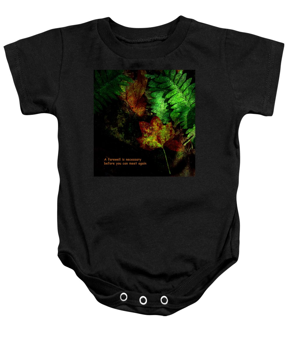 Farewell Baby Onesie featuring the photograph Farewell by Susanne Van Hulst