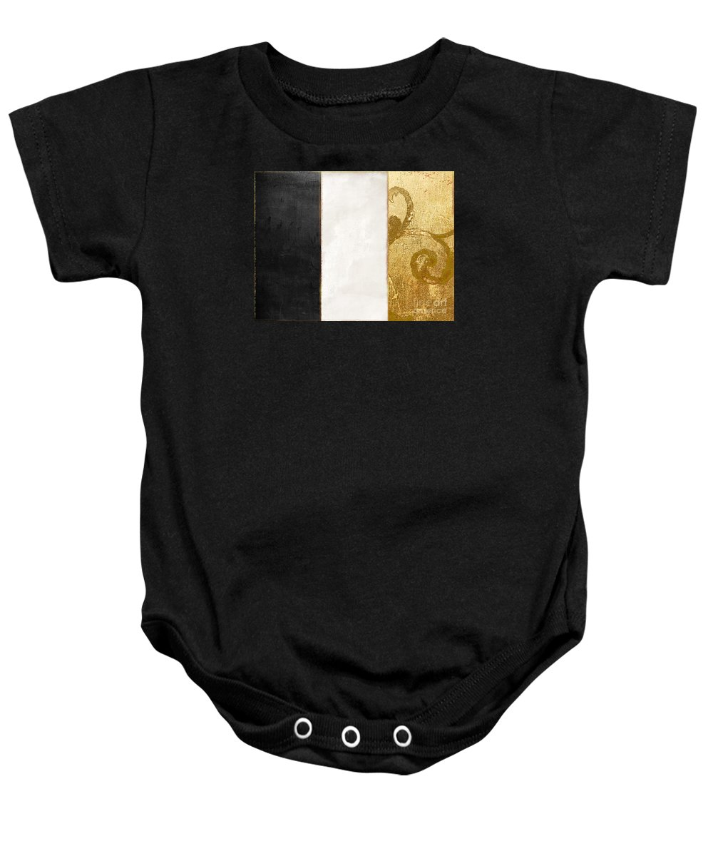 Flag Baby Onesie featuring the painting Fashion France Flag by Mindy Sommers