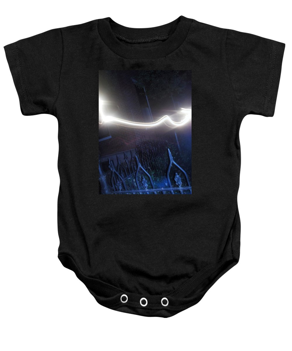 Photograph Baby Onesie featuring the photograph Fence by Thomas Valentine