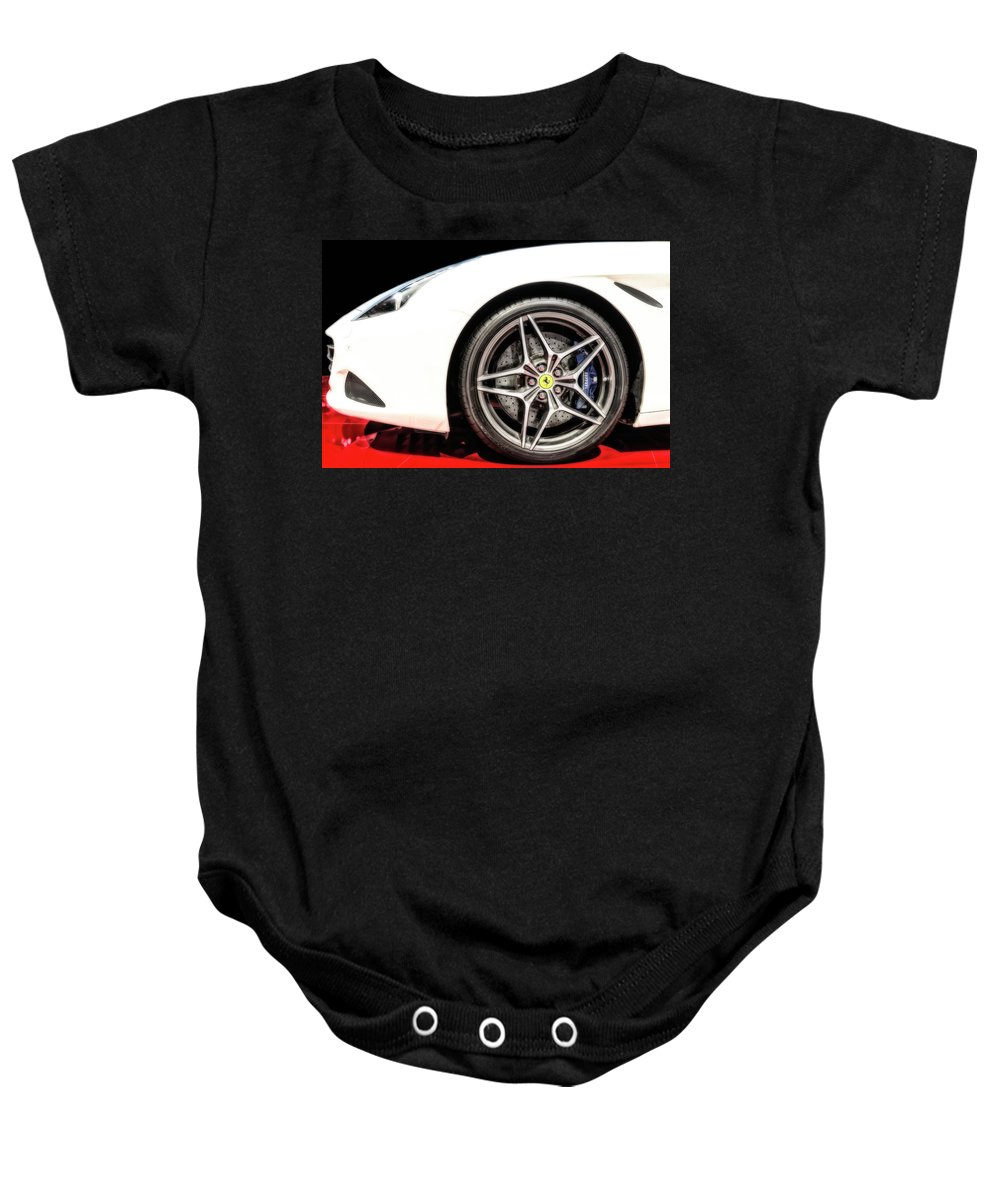 Car Baby Onesie featuring the photograph Ferrari California T by Duschan Tomic
