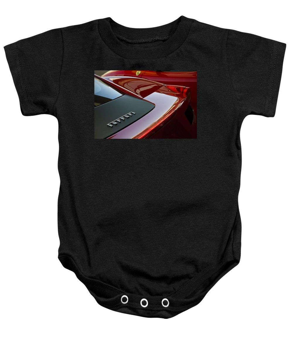 Ferrari Baby Onesie featuring the photograph Ferrari Italia by Dennis Hedberg