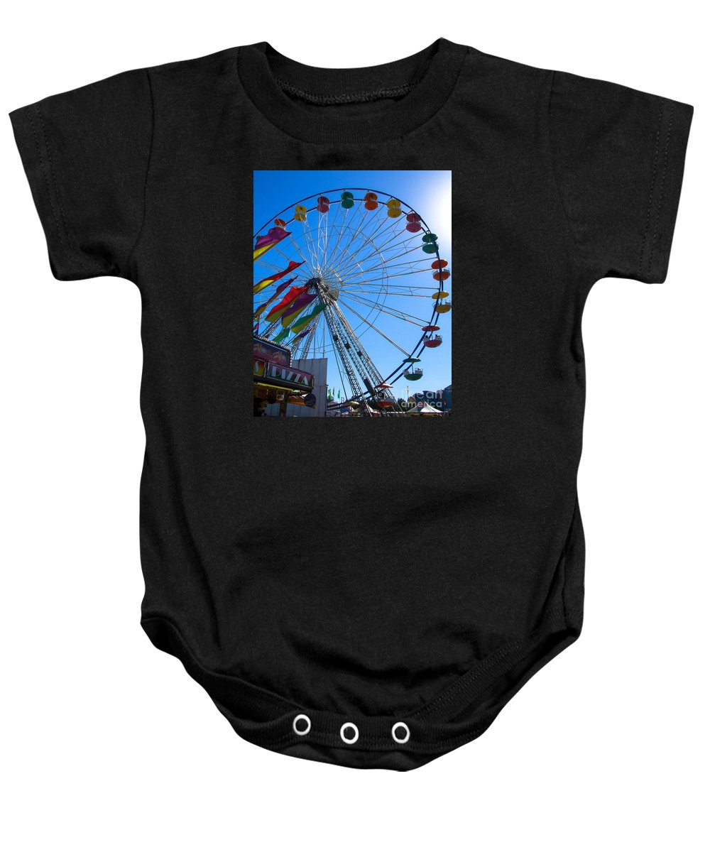 Fair Baby Onesie featuring the photograph Ferris Wheel 6 by Andrea Anderegg
