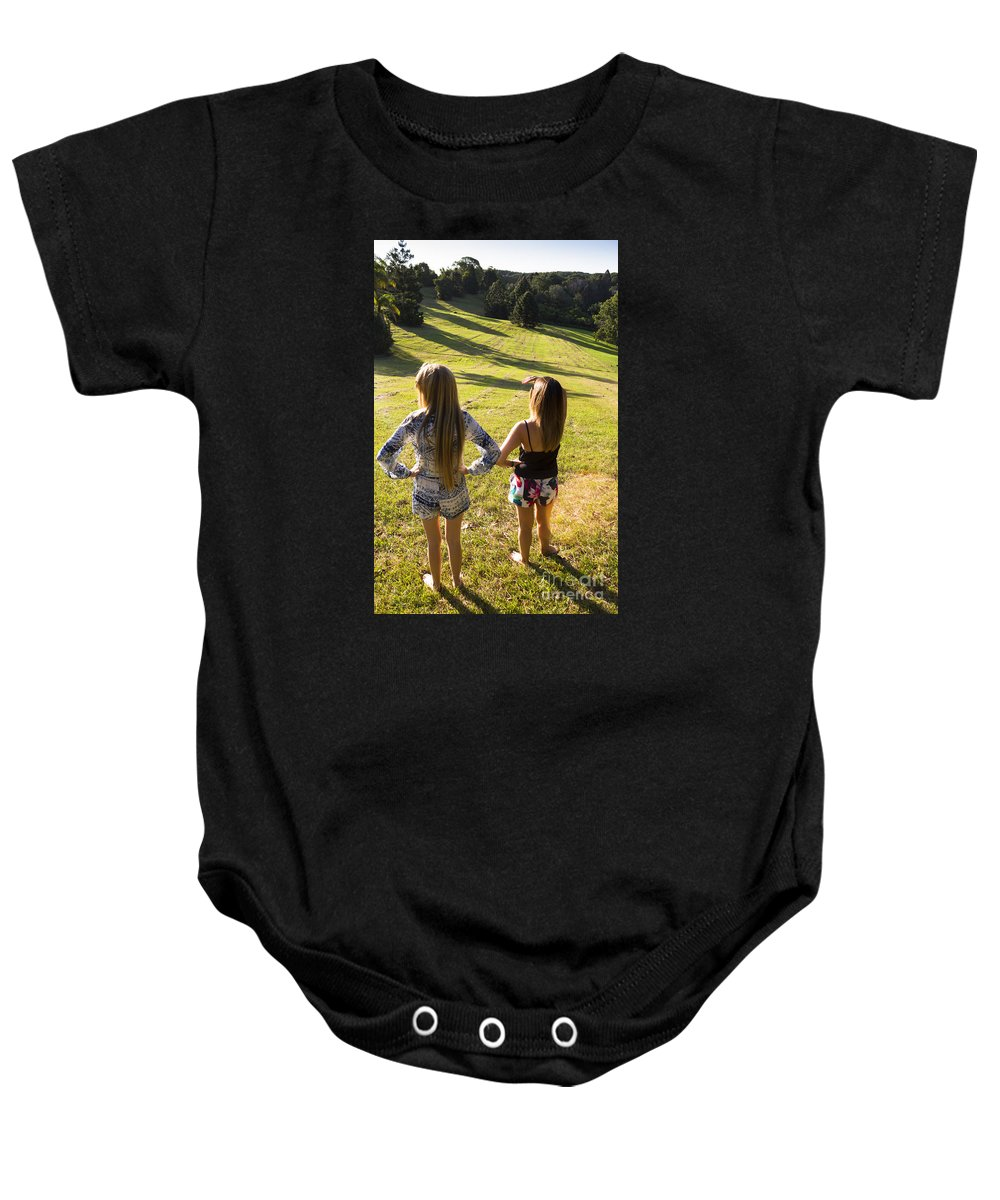 Summer Baby Onesie featuring the photograph Fields Of Freedom by Jorgo Photography - Wall Art Gallery