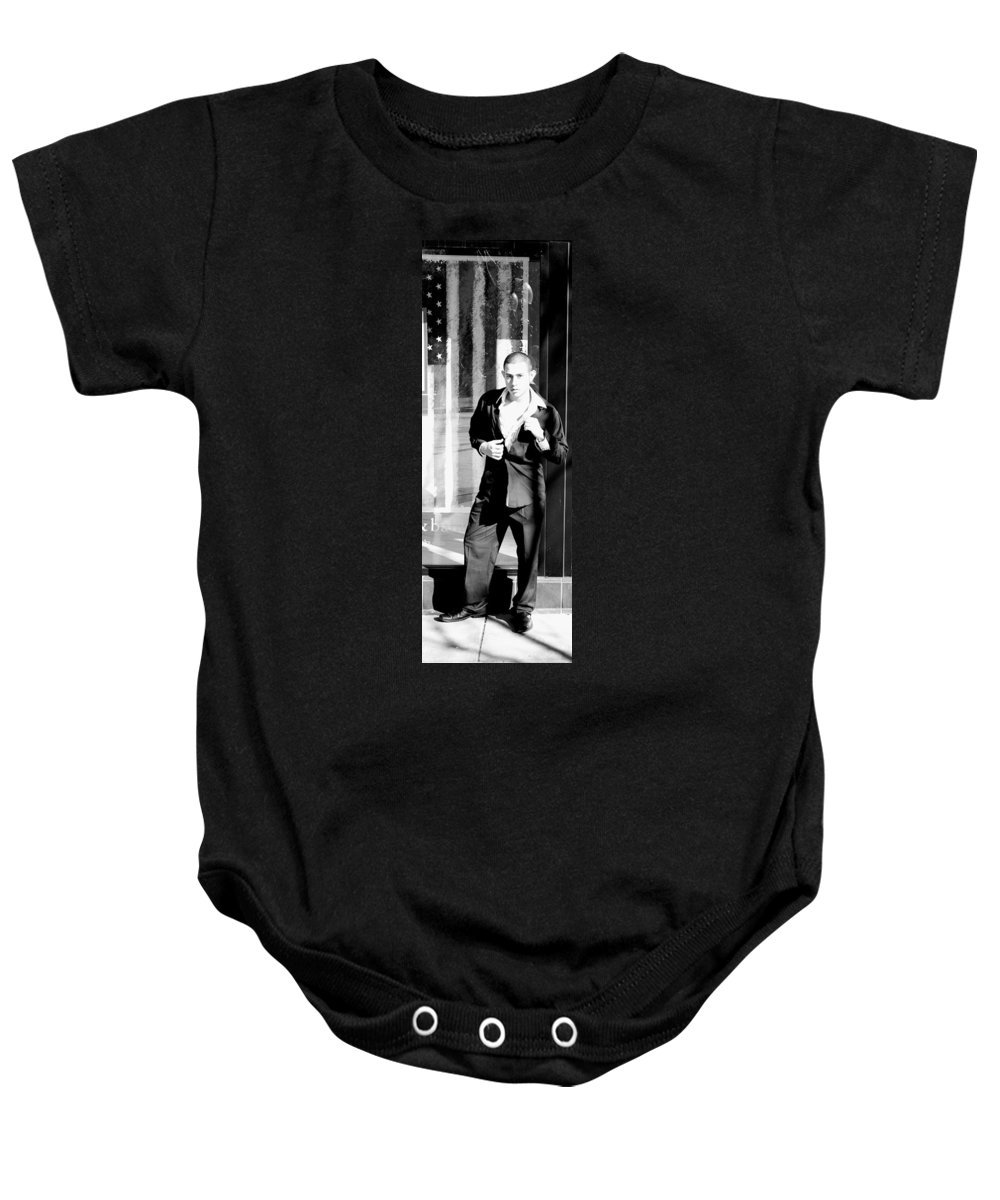 America Baby Onesie featuring the photograph Fine American Model by Angus Hooper Iii