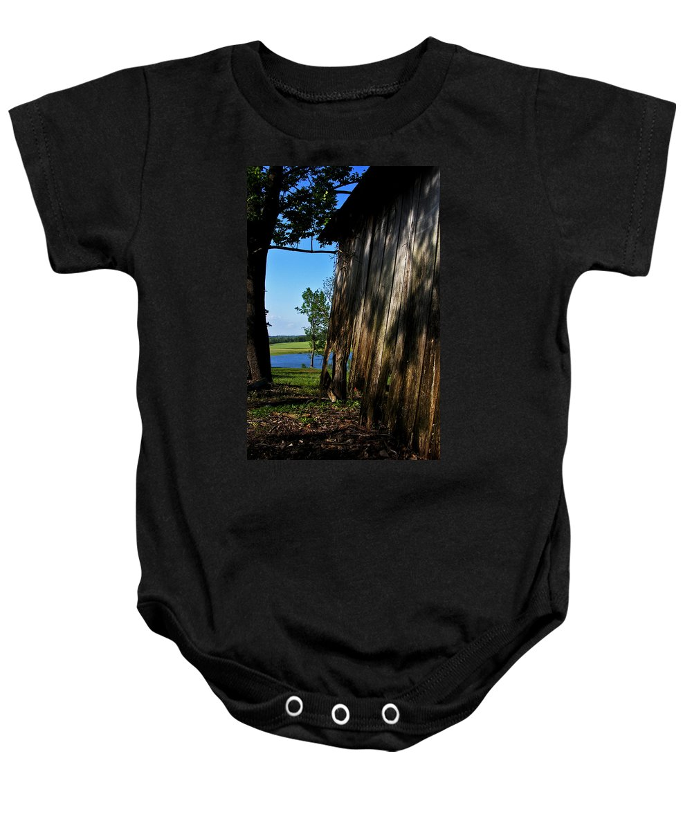Landscape Baby Onesie featuring the photograph Fine Woodwork by Rachel Christine Nowicki
