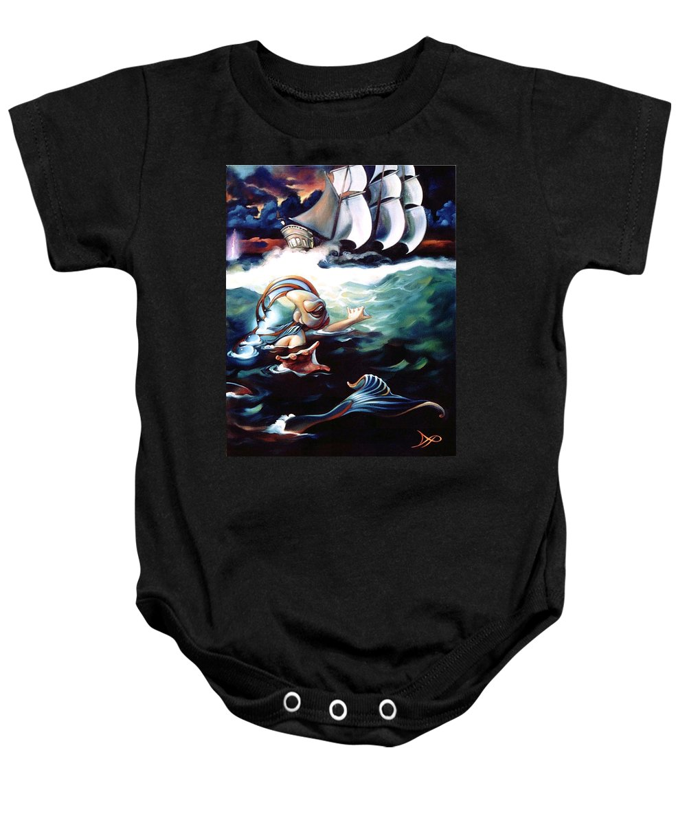 Seafarer Baby Onesie featuring the painting Finnegan's Quest by Patrick Anthony Pierson