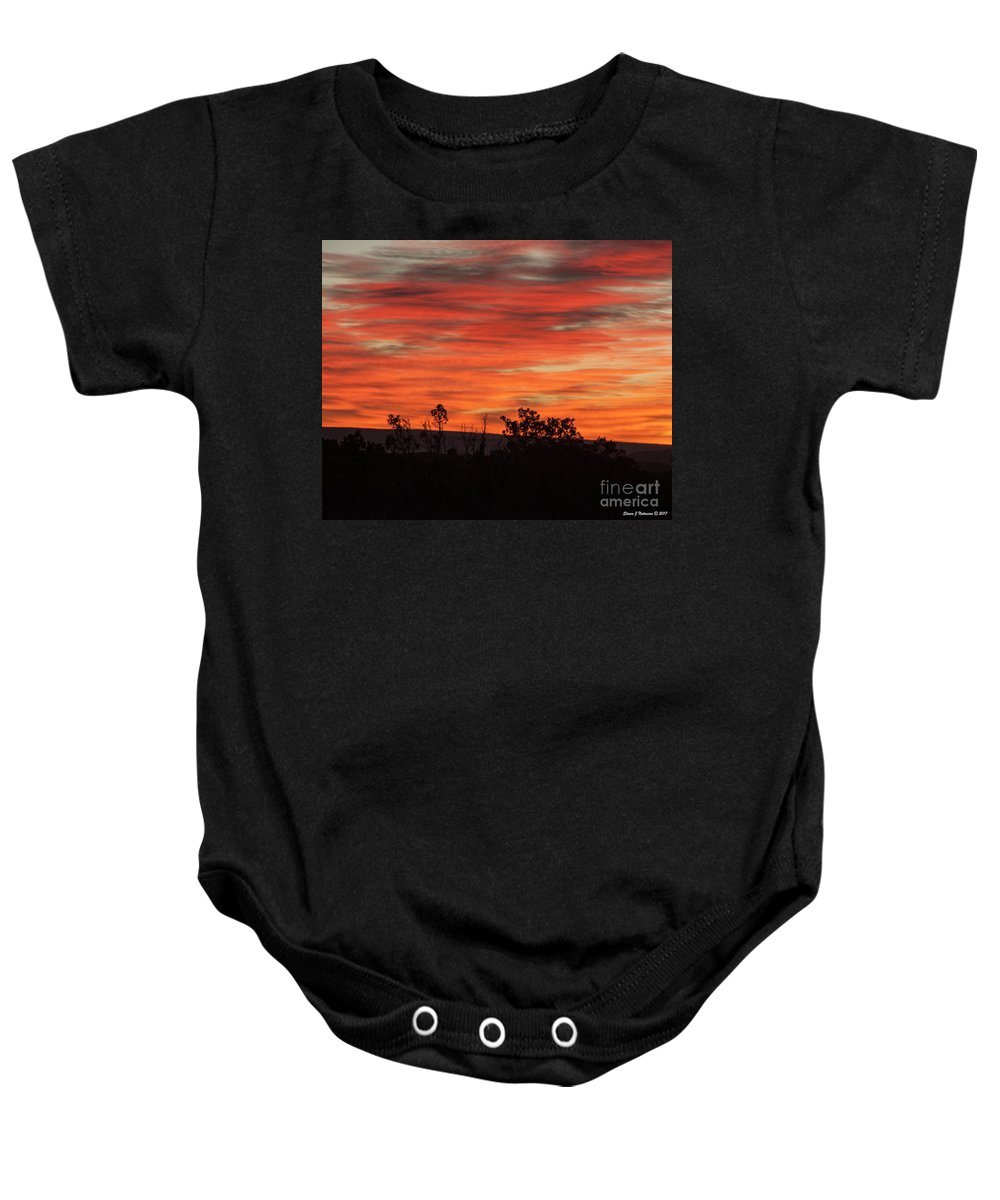 Natanson Baby Onesie featuring the photograph Fire At Dawn by Steven Natanson