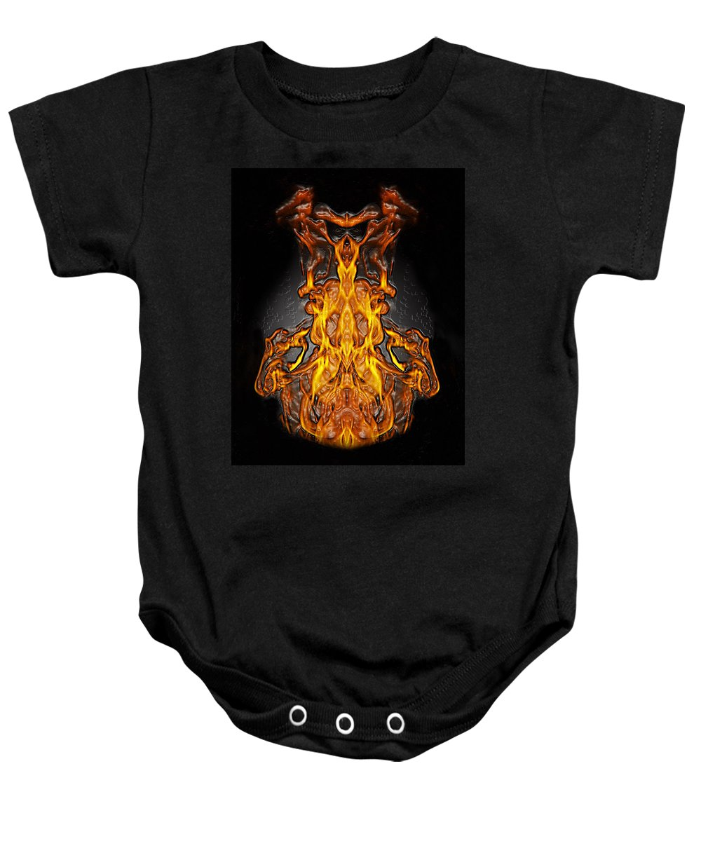 Devil Baby Onesie featuring the photograph Fire Leather by Peter Piatt