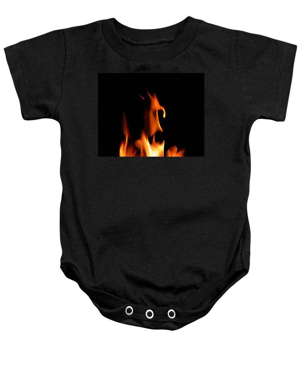 Cartoon Character Fire Baby Onesie featuring the photograph Fire Toon by Peter Piatt