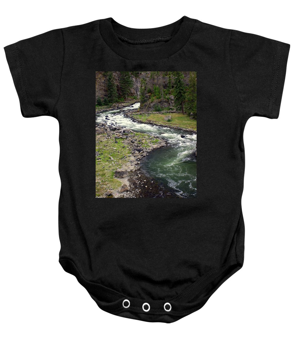 Firehole River Baby Onesie featuring the photograph Firehole River 2 by Marty Koch