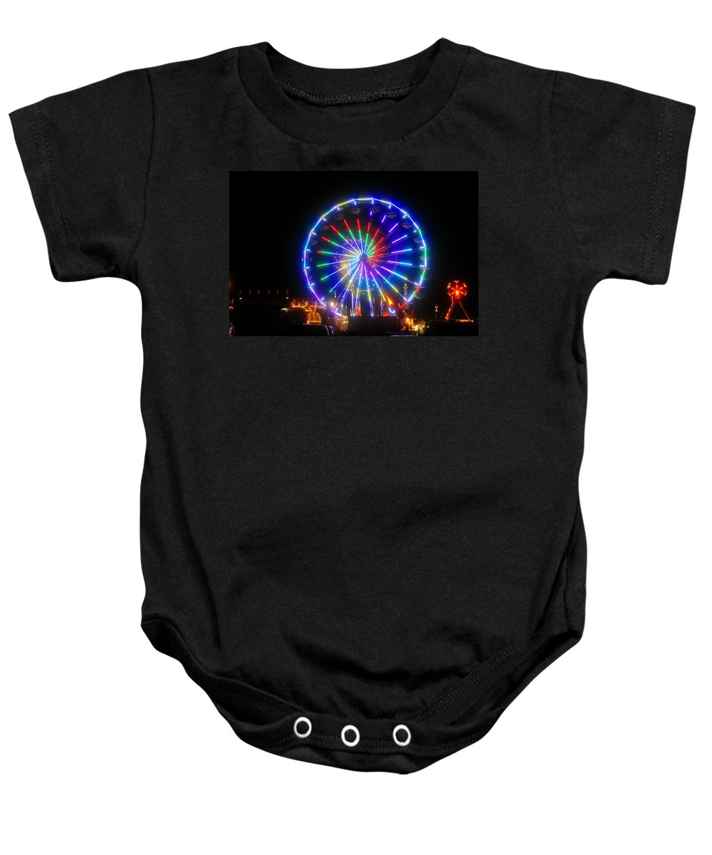 Fireworks Baby Onesie featuring the photograph Fireworks At The Fair by David Lee Thompson
