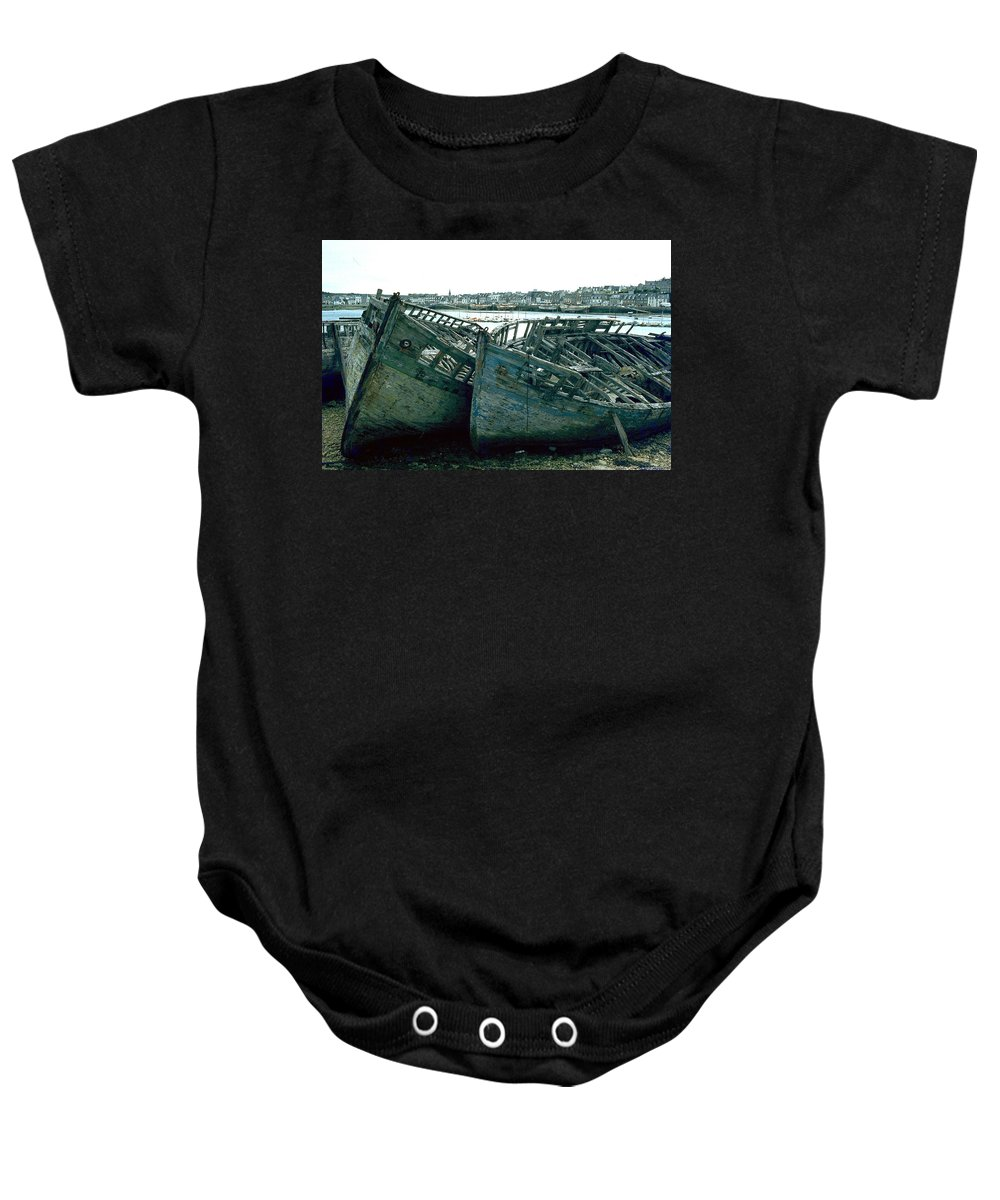 Fisher Boats Baby Onesie featuring the photograph Fisher Boats by Flavia Westerwelle