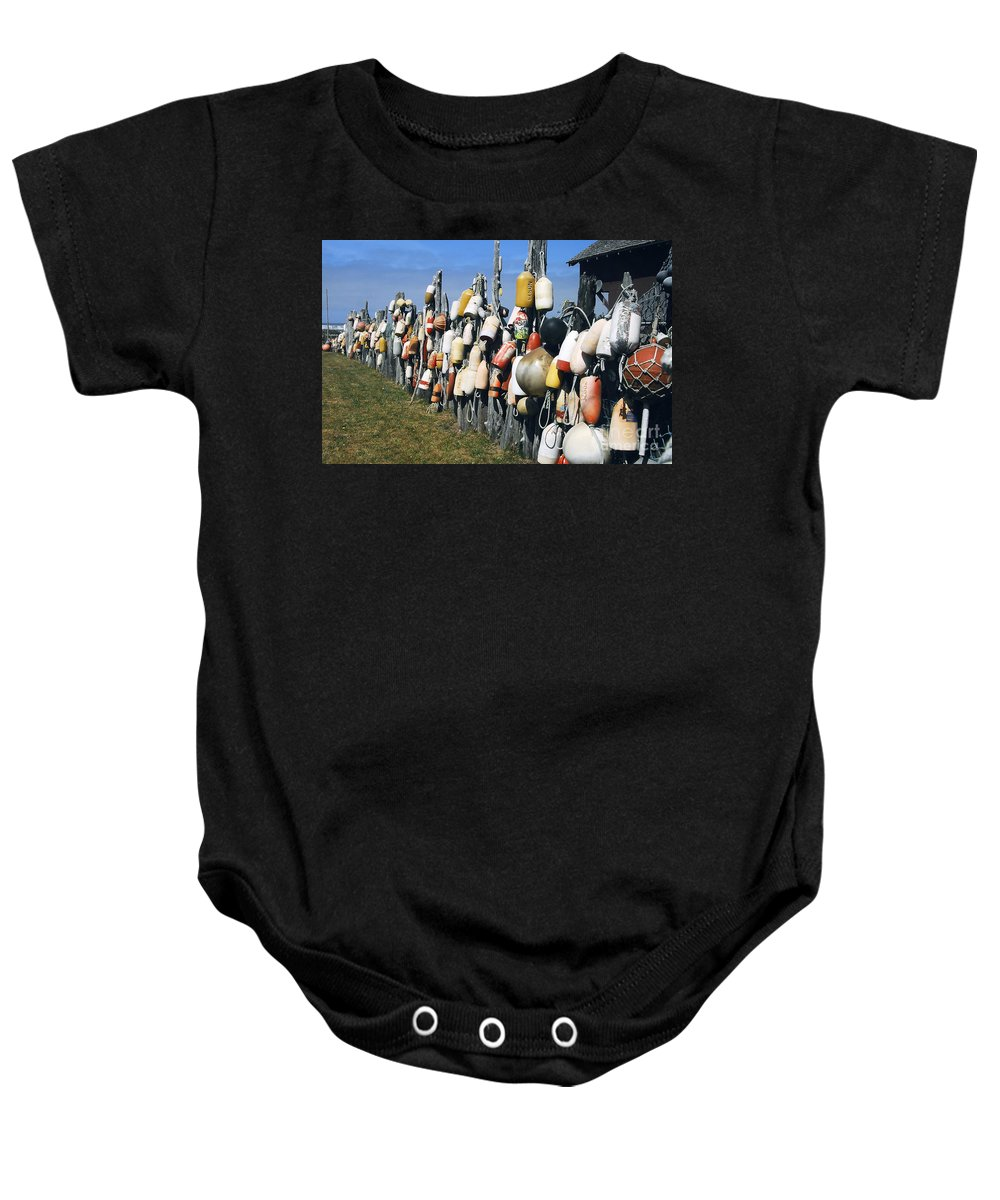Buoys Baby Onesie featuring the photograph Fishing Village by David Lee Thompson