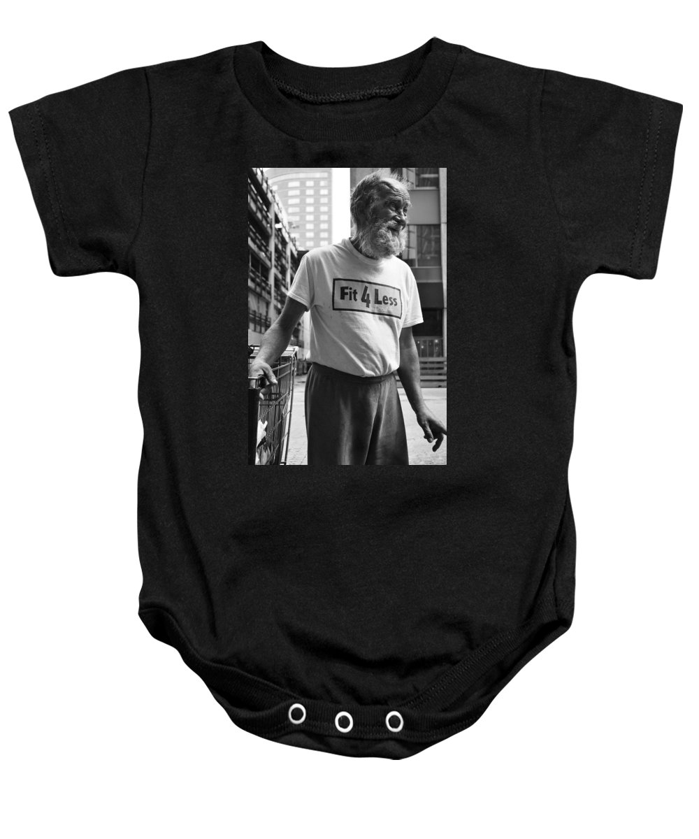 Street Photography Baby Onesie featuring the photograph Fit Four Less by The Artist Project