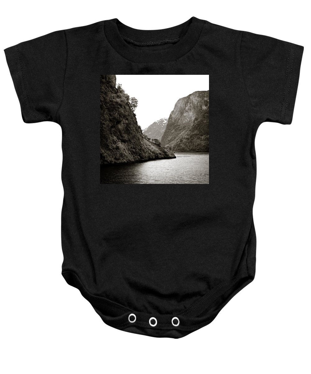Norway Baby Onesie featuring the photograph Fjord Beauty by Dave Bowman