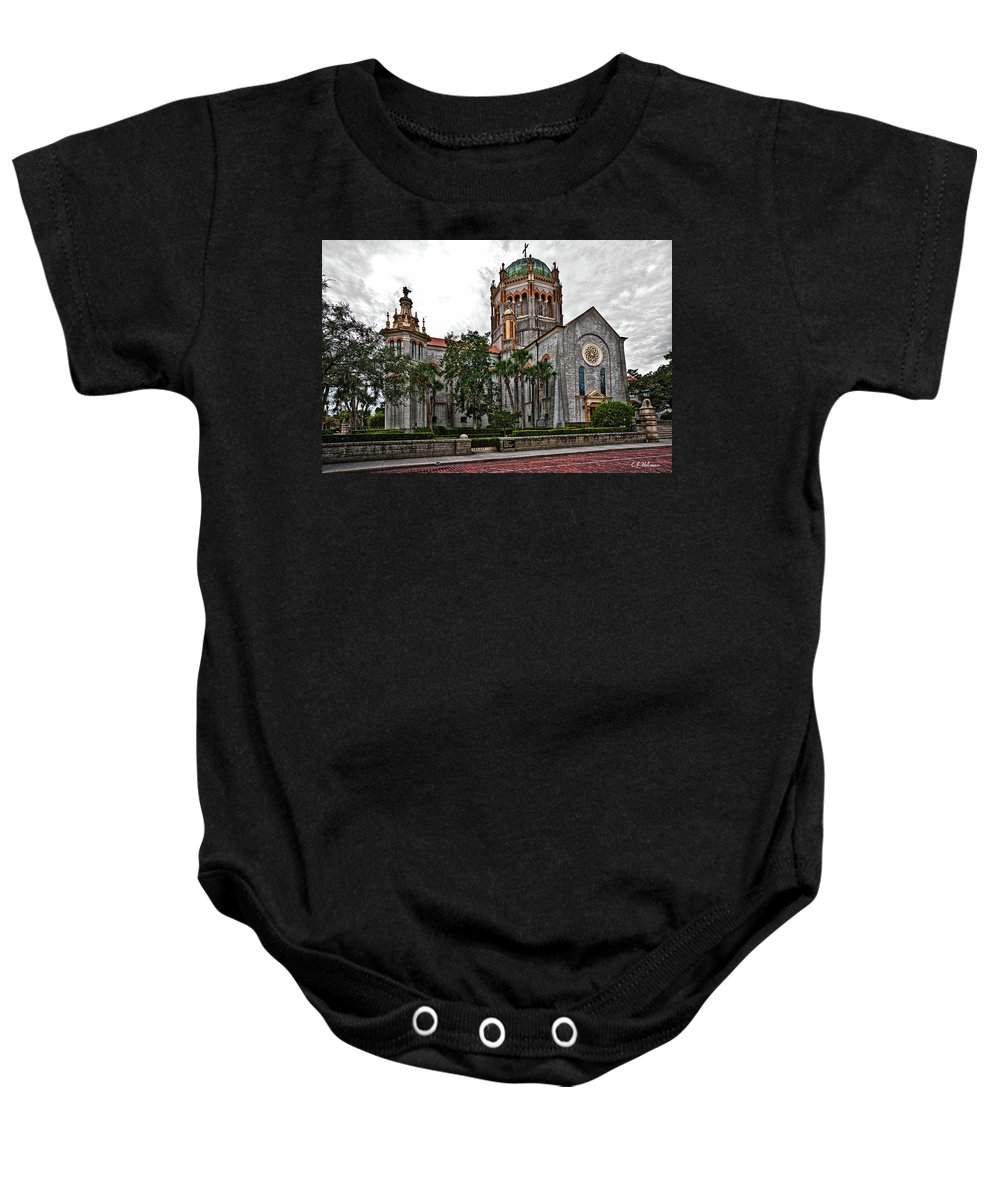 Church Baby Onesie featuring the photograph Flagler Memorial Presbyterian Church 2 by Christopher Holmes