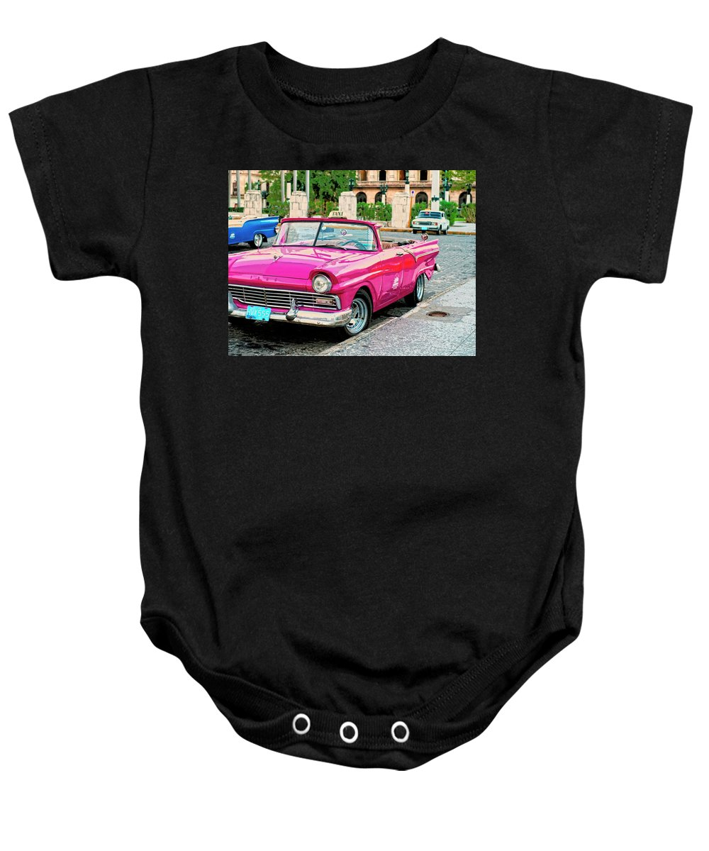 Flamenco Baby Onesie featuring the mixed media Flamenco by Dominic Piperata