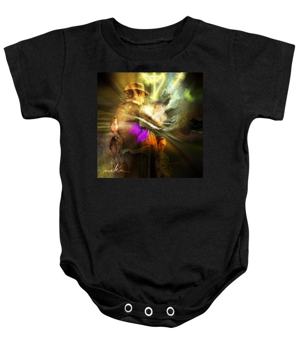 Spain Baby Onesie featuring the painting Flamenco by Miki De Goodaboom